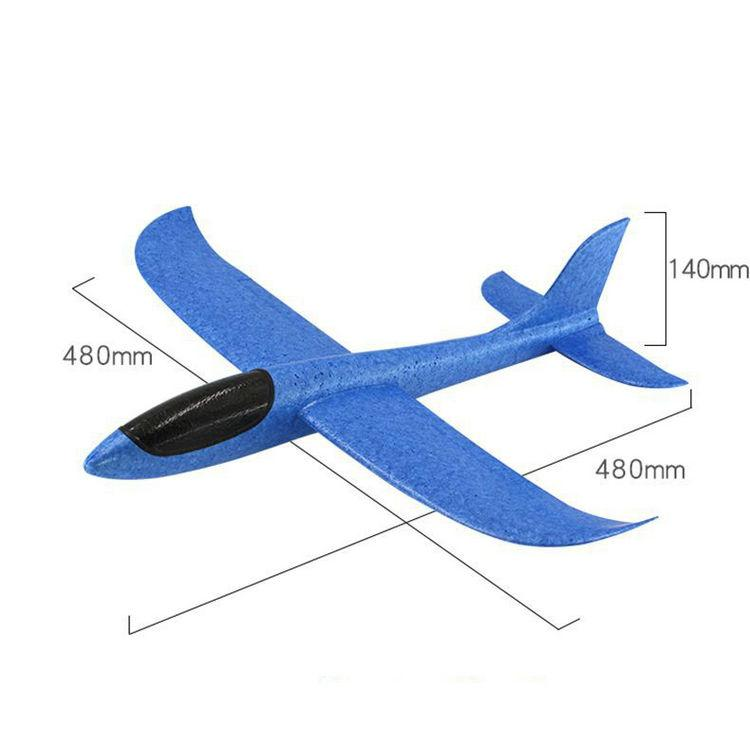 Hand Launch Throwing Glider Aircraft Inertial Foam EVA Airplane Toy Plane Model Outdoor Fun Sports Plane Model Interesting Toys 48cm