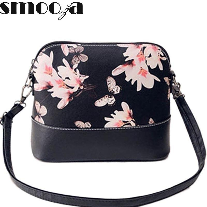 4c4532a024 SMOOZA New 2018 Women Messenger Bags Famous Brand Flower Shell Package  Women Shoulder Bag Leather Handbag Women Pouch S921 Jo Totes Discount  Handbags From ...