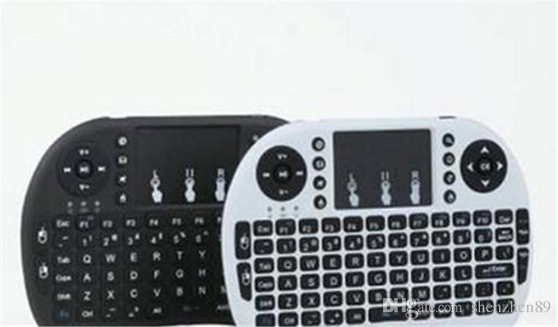 Mini tastiera wireless Rii i8 2.4GHz Air Mouse tastiera telecomando Touchpad Android Box TV 3D gioco Tablet Pc