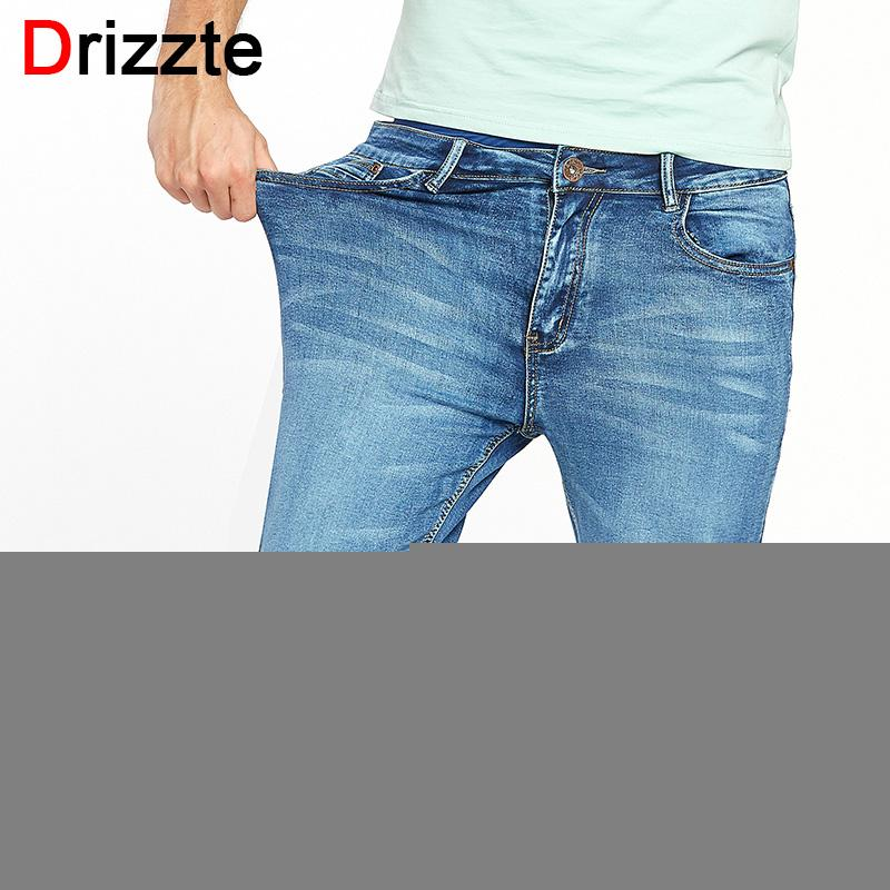 8629798e859a7 2019 Drizzte Brand Mens Summer Stretch Lightweight Thin Denim Jeans Short  For Men Jean Shorts Pants Plus Size 32 33 34 35 36 38 40 42 From Netecool