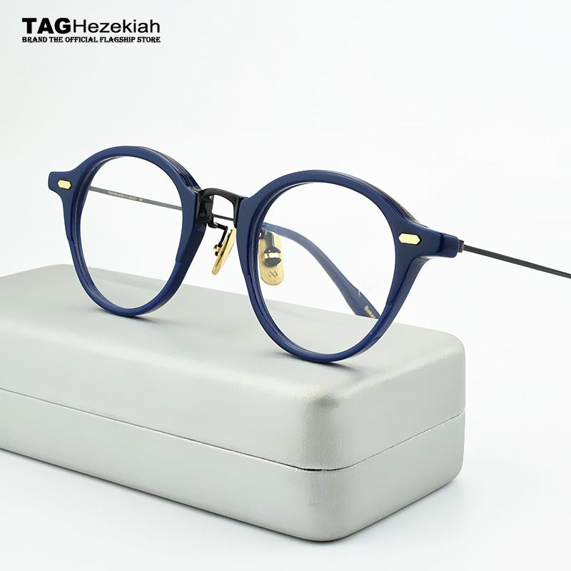 f44bb2510e 2019 Round Glasses Frame Men 2019 Myopia Computer Vintage Handmade Designer  Spectacle Retro Brand Eyeglasses Frame Women 47 23 145 From Wonderline2
