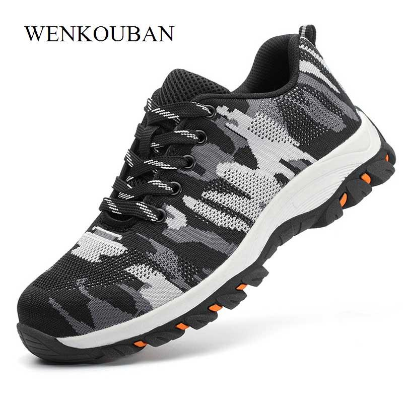 de2ff6d4e06 Compre Nuevos Zapatos Con Punta De Acero Para Hombre Botas De Invierno  Zapatos De Seguridad Transpirables Con Cordones Botas De Trabajo Para Hombre  Botines ...