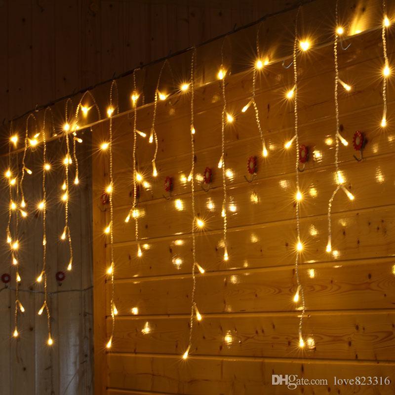 Weihnachtsbeleuchtung Led Outdoor.Weihnachtsbeleuchtung Indoor Outdoor Dekoration 10 Mt 320 Leds Droop 0 3 0 5 Mt Led Vorhang Eiszapfen Lichterketten Neujahr Hochzeit Girlande Licht