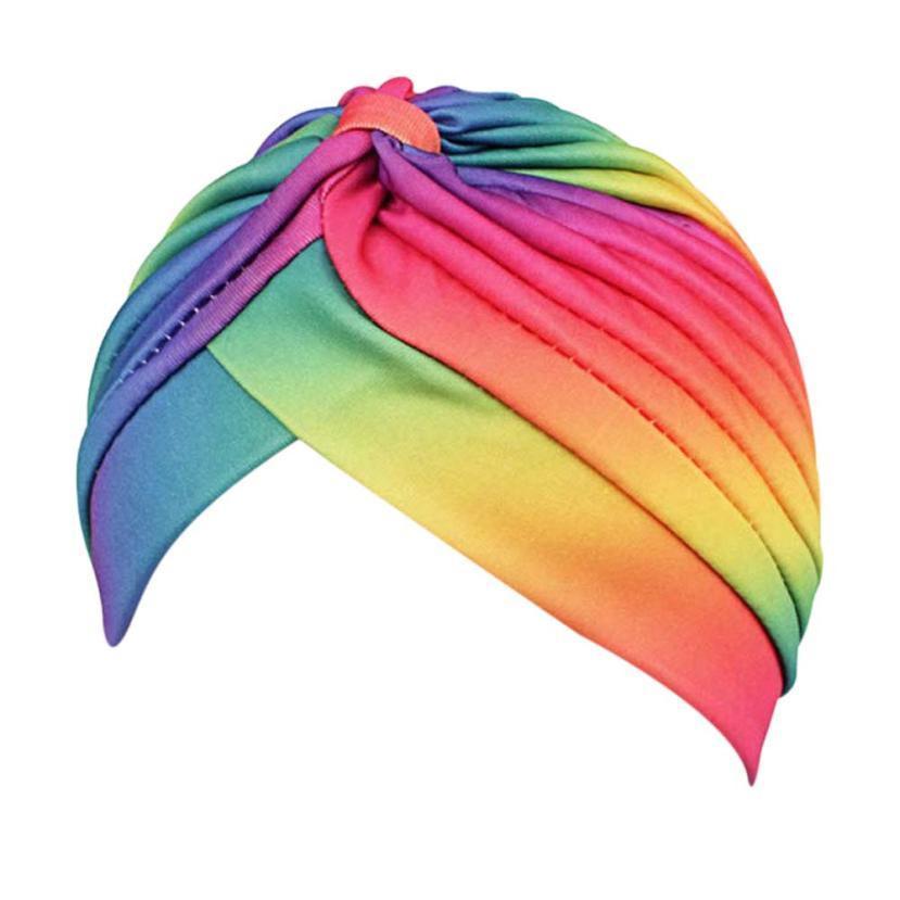 Muslim Stretch Turban Hat Rainbow Color Beanie Hats Warm Autumn Hat  Turbante Winter Hats For Women Turban Hat 12 Baseball Cap Slouchy Beanie  From Hilaryw 11e3e4d4bae