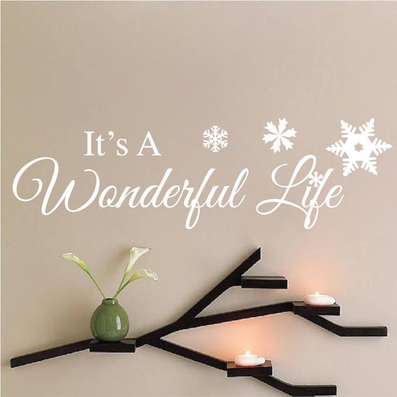 Großhandel Wunderbare Worte Schneeflocke Schönheit Tapete Abnehmbare ...