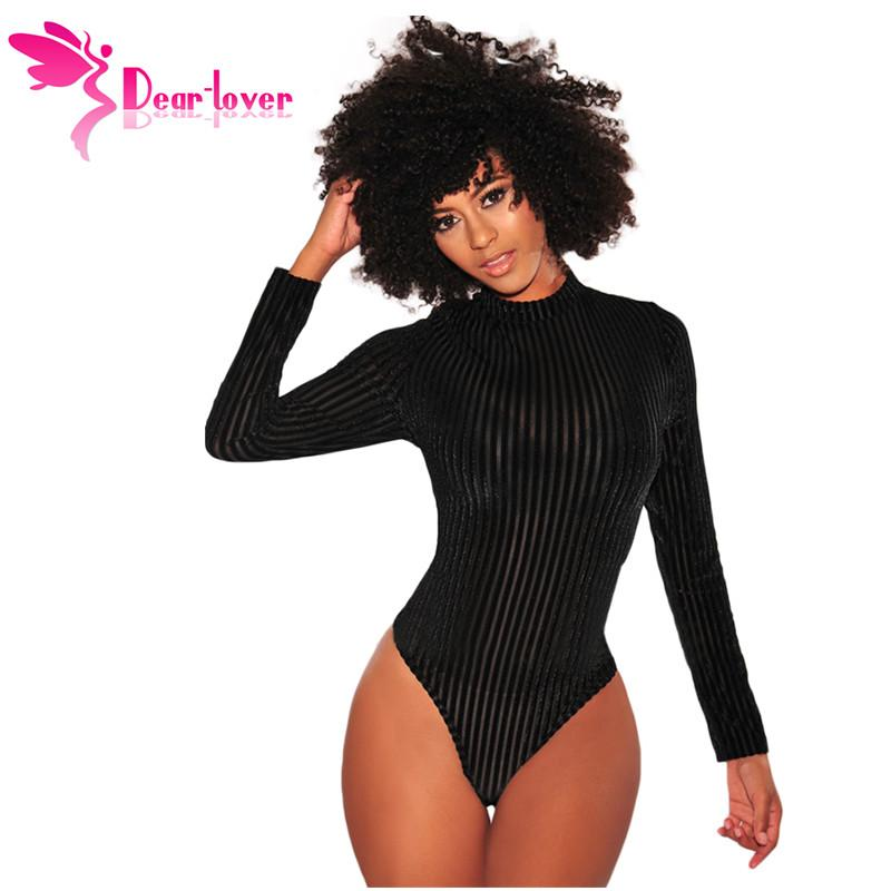 91f2f6df9f 2019 Dear Lover Long Sleeve Bodysuit Women Sexy Combinaison Femme Black  Velvet Ribbed Lace Up Back Body Femme Autumn 2018 Top LC32209 From  Lanceweng