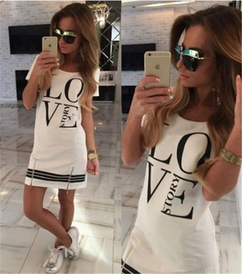 2018 Summer Style Casual Fashion Women Tops Blusa LOVEstory vestido con cremallera club vendaje bodycon mini vestido