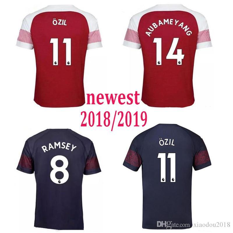 a1c461c33 2019 2019 Arsenal Home Away Soccer Jersey 18 19 Arsenal OZIL LACAZETTE ALEXIS  GIROUD XHAKA Soccer Shirts Top Sales AUBAMEYANG Football Uniforms From ...