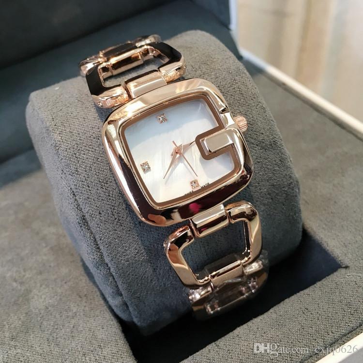 cd1bc6d5fb6c Compre Dropshipping Ventas Al Por Mayor Top Venta Moda Mujeres De Lujo Reloj  Cuadrado Relojes De Marca Mujer Vestido De Dama Reloj De Cuarzo Reloj De  Oro ...