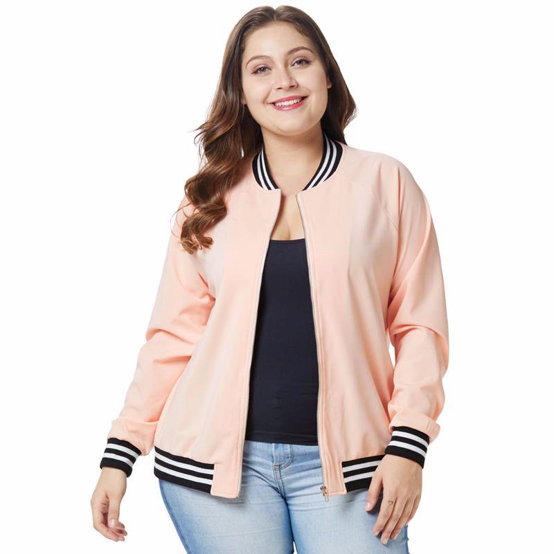 bd00a204c49 Aphrodite Home Women Jacket Fashion Stripe Ladies Zipper Up Bomber Jacket  Casual Coat Autumn Outwear Women Clothes Plus Size Jackets Winter Coats  From ...