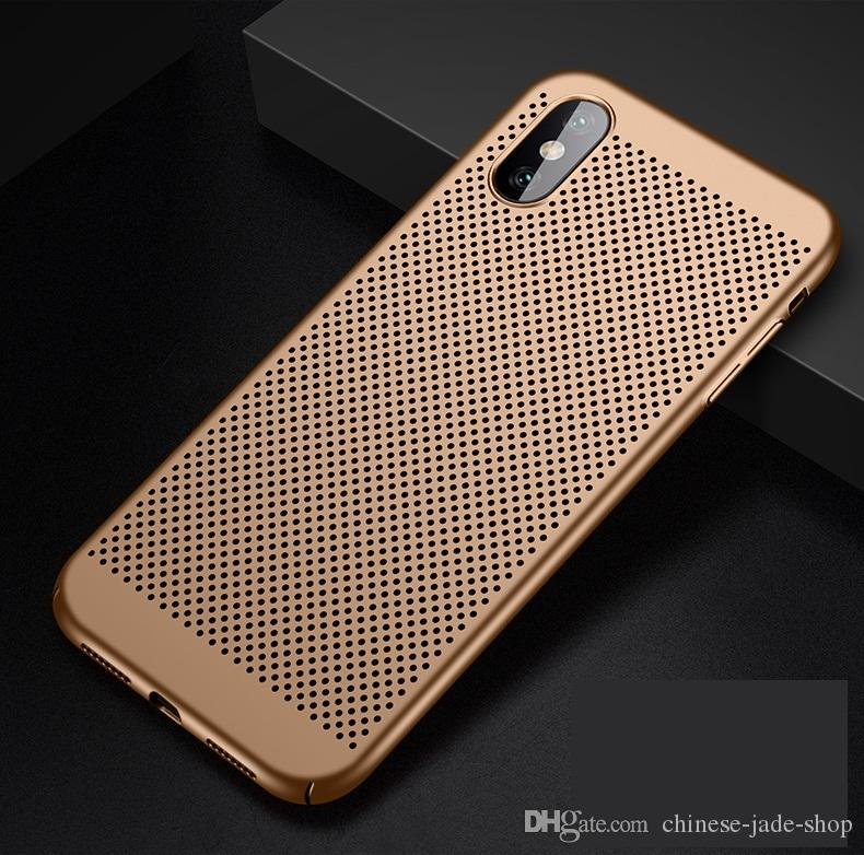 Full Cover Matte Slim Hard PC Mesh Breathing Case for iPhone X XS XR XS MAX Galaxy S10 S10 PLUS S10E Grid Hollow Out Shell 300PCS/LOT
