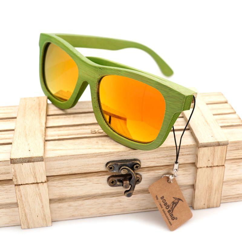 3c5718a39dd Wooden Sunglasses Women BOBO BIRD Fashion Summer Style Bamboo Wooden ...