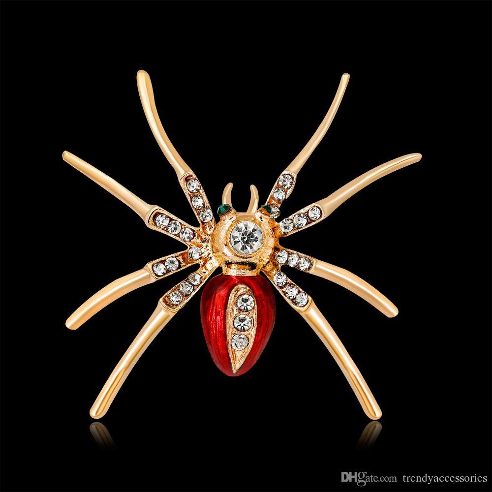 Cute Animal spider Broche pour chemise Denim Jacket Decor Party Prom Femmes Hommes Accessoires