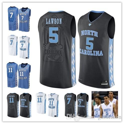 Custom North Carolina Tar Heels College Basketball Blue Black White ... 280f4954f