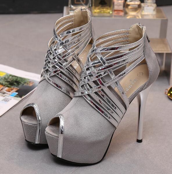 AAAElegant Sexy Lady High Heels Size 36-43 Buckle Strap Sandals Fashion Joker Brand Sexy Nightclub Party +logo+Box