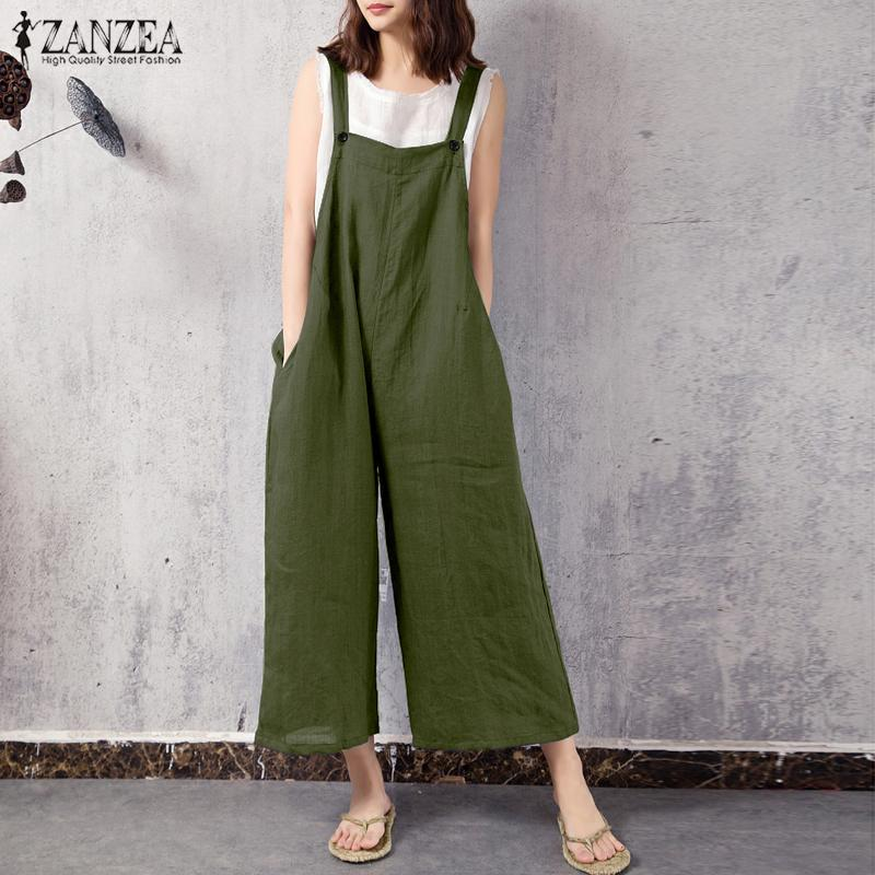 c4e243a5c0 Wholesale Summer Women Casual Spaghetti Strappy Jumpsuit Pockets Bodysuit  Wide Leg Pants Loose Long Rompers Overalls Mono Plus Size Online with   39.18 Piece ...