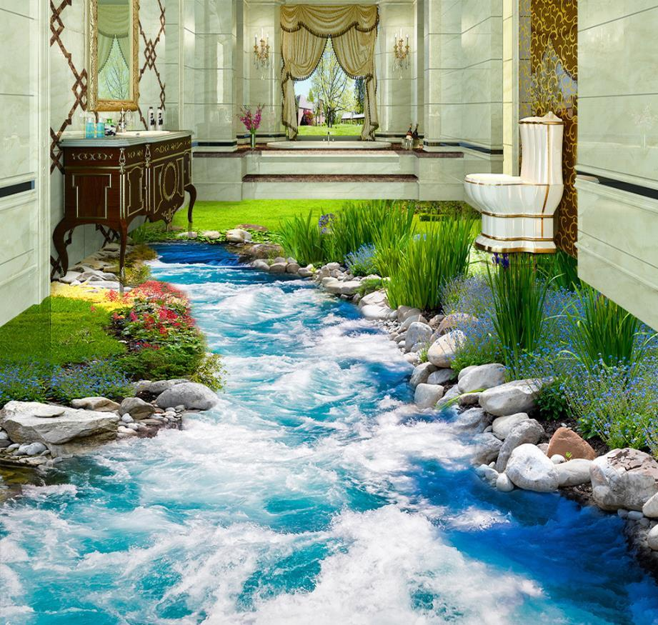 Photo Wallpaper Mural Floor 3d Wallpaper Floor For Living