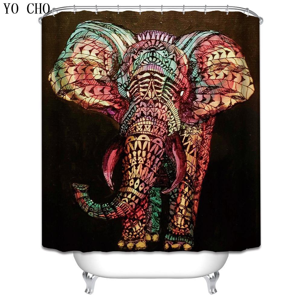 2019 Elephant Shower Curtain Animals Horse Octopus Bath Curtain With