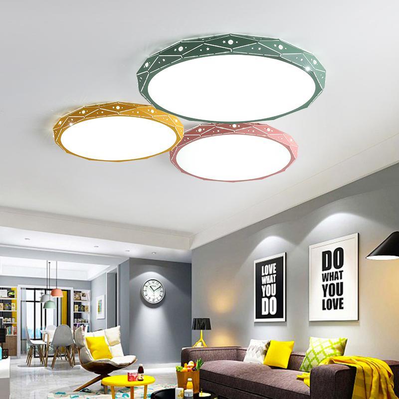 Acheter Décor Moderne Plafonnier LED Fer Acrylique Cercle En Métal ...