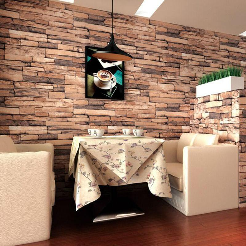 Vintage Faux Brick Wallpaper Rolls Sand Multi 3d Realistic Stone Paper Murals Home Bedroom Living Room Wall Decoration Hd It Wallpapers Pictures For