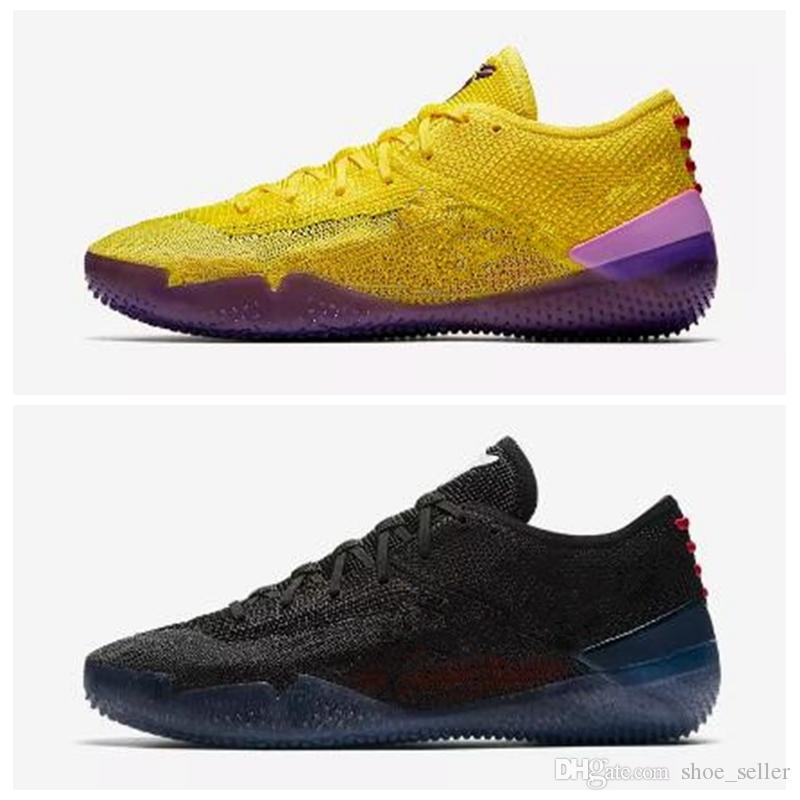 sale retailer 172cd dc044 2018 New Kobe A.D. NXT 360 Yellow Strike Mamba Day Multicolor Mens  Basketball Shoes For Top Quality 12 Wolf Sports Sneakers Size7 12  Basketball Mens Shoes ...