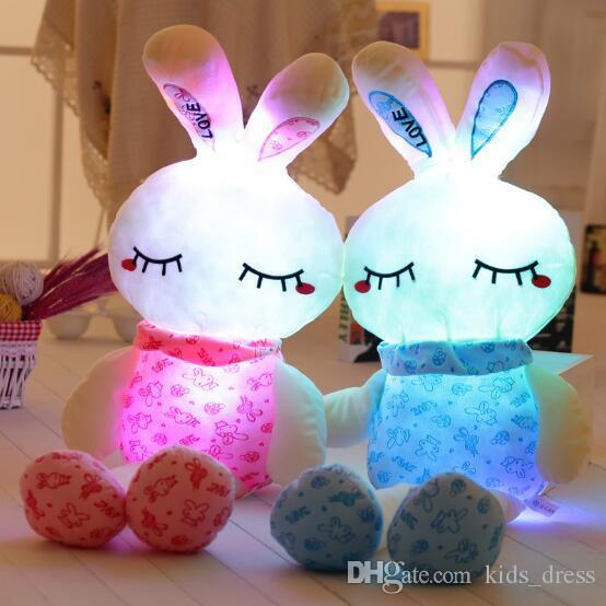 2019 100cm Led Music Easter Bunny Doll Plush Rabbit Cute Stuffed