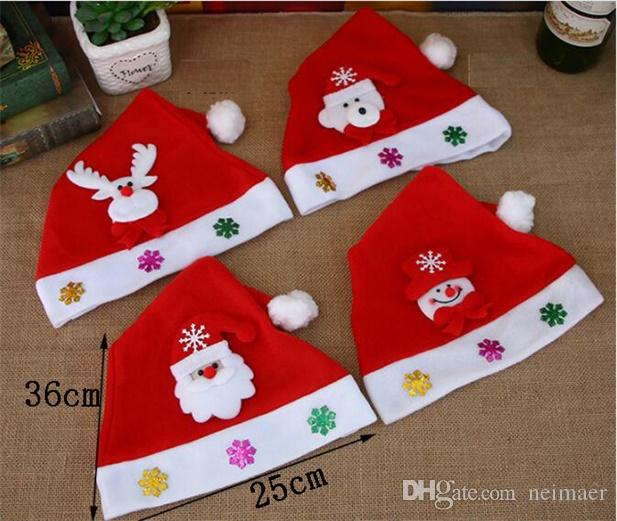 Christmas Decorations, Holiday Gifts, Christmas Hat Decals, Cartoon ...