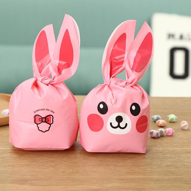 Пластиковые Пасхальный Кролик уха Cookie сумки свадебные подарки для гостей Кролик утка подарочная сумка день рождения Пасха партия выступает