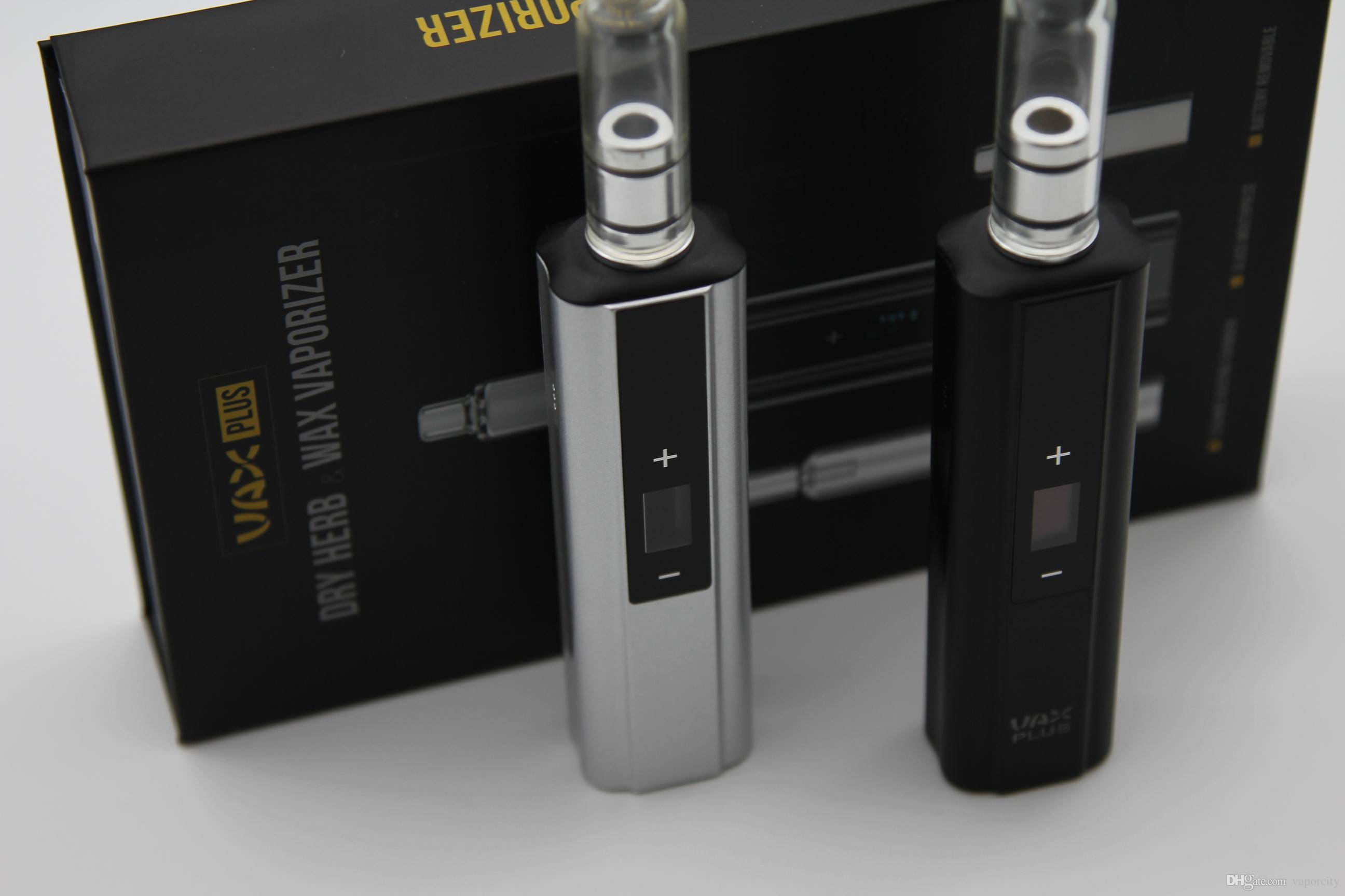 Patented Vax plus kit Dry Herb ecig wax herbal vaporizer kits 3000mah battery oled screen vaporizer vs vax mini air elite mighty