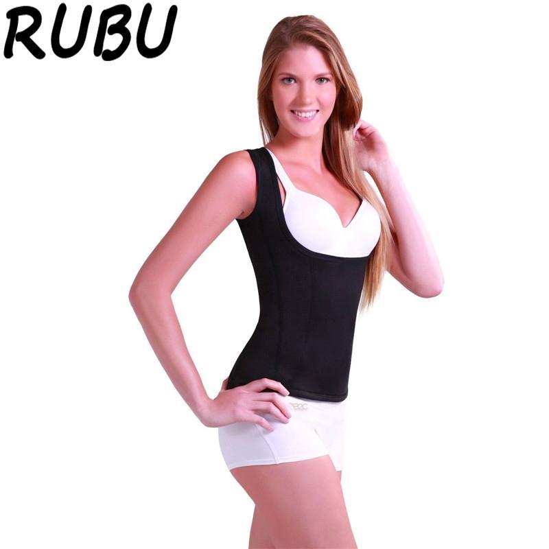 3917b32e3fe6b Women Neoprene Shirt Slimming Body Shaper Sexy Hot Shapers Sleeveless Redu  Tops Chest Waist Abdomen Trainer Bodysuit Vest 8AR499 Body Shaper Hot  Shapers ...