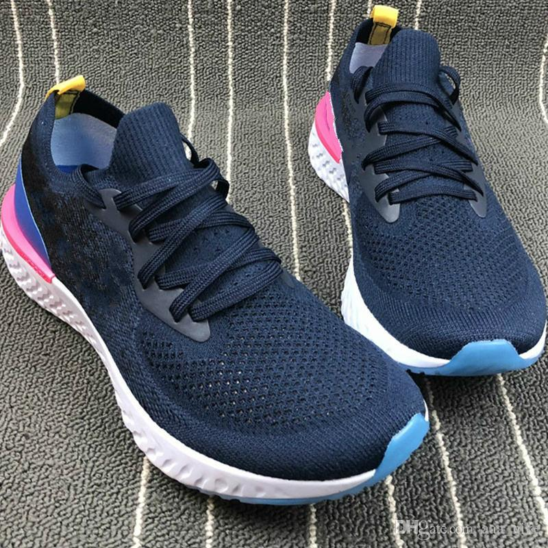 separation shoes bf87c 57980 Acheter Nike Flyknit Free Run Running Shoes 2018 Haute Qualité Epic React Running  Chaussures Femmes Hommes Sneakers Sport Baskets Boost Épique React Man Run  ...