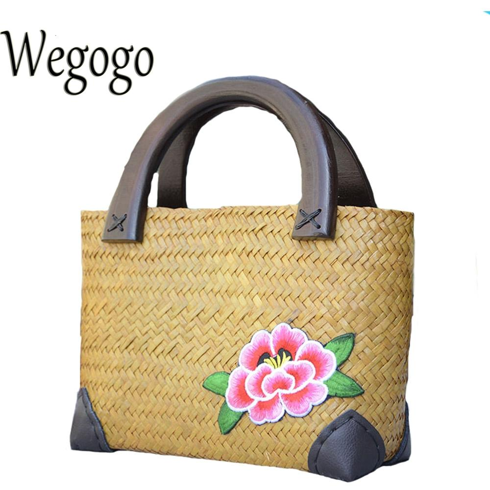 Wegogo Women Handbag New Thailand Straw Bag Ladies Travel Holiday Summer  Beach Bohemian Boho Weaving Woven Straw Tote Bag Rosetti Handbags Cheap Bags  From ... 5eaee3d56a061