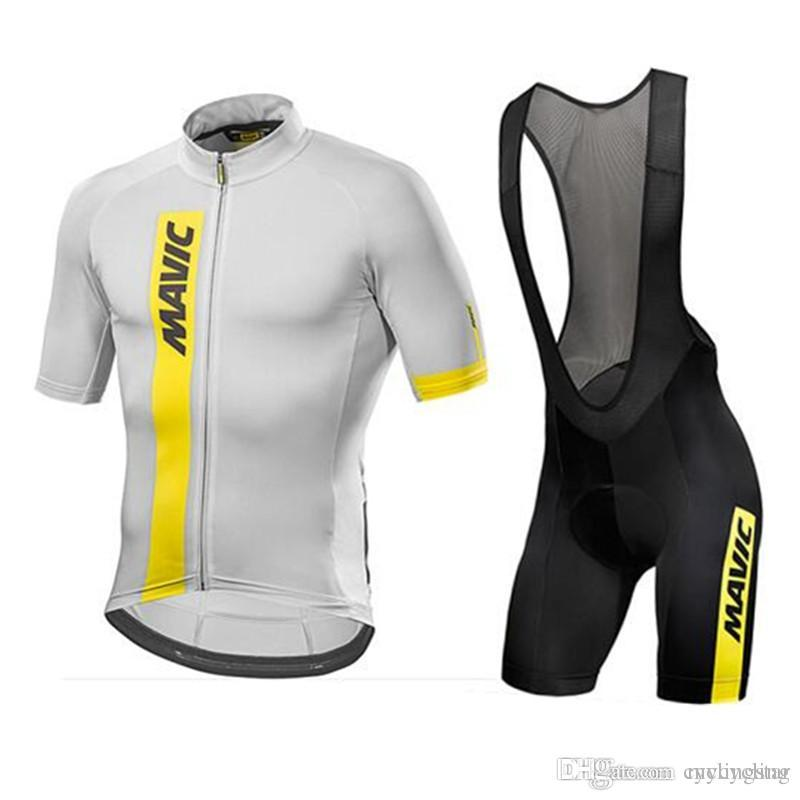 Mavic 2018 Cycling Jersey Summer Team Short Sleeves Bib Shorts Set ... 6f9bf573c