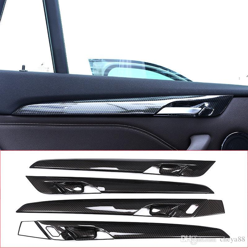 Carbon Fiber Style Door Decoration Strip Cover Trim For