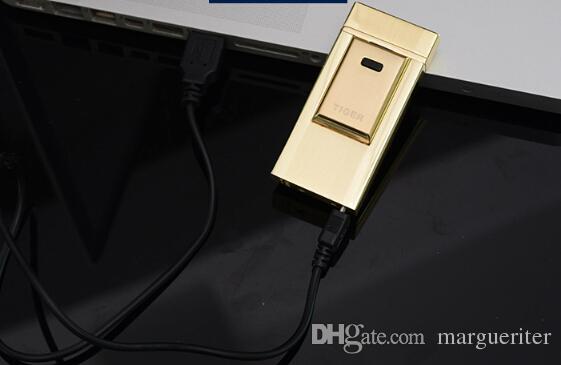 Encendedor sin llama a prueba de viento del encendedor del arco del encendedor del USB portátil con la caja para el envío libre del regalo