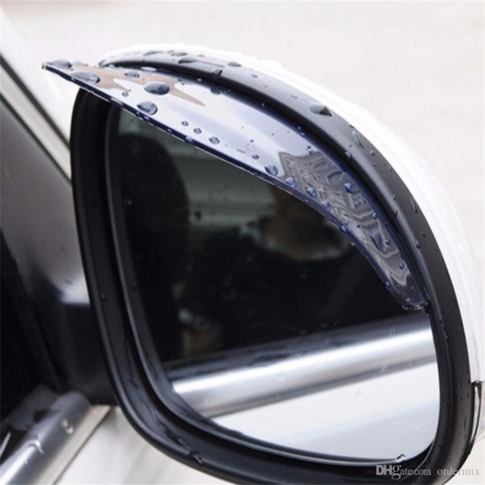 1 Çift Yeni Universal Araç Arka Yan Ayna Yağmur Kurulu Visor Gölge Kaş Kalkanı