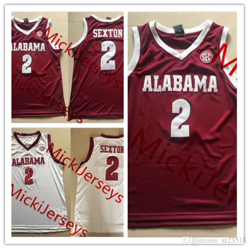 531b7c21a99 2019 Mens NCAA Alabama Crimson Tide Collin Sexton College Basketball  Jerseys Stitched White Red Collin Sexton Alabama Crimson Tide Jersey S 3XL  From Xt23518 ...
