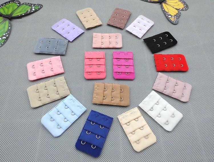 Factory Price! Ladies Girls 2 Hooks Bra Strap Long Extender Hook Clip Nude Adjustable Belt Mix Colors