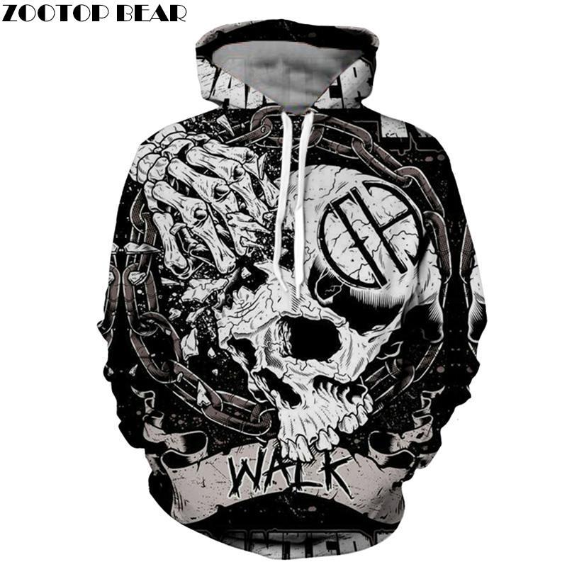 94db8030d56f 2019 Skeleton 3D Hoodie Men Skull Hoody Groot Sweatshirt Halloween  Tracksuit Streatwear Coat Pullover Pantera Drop Ship From Blueberry07