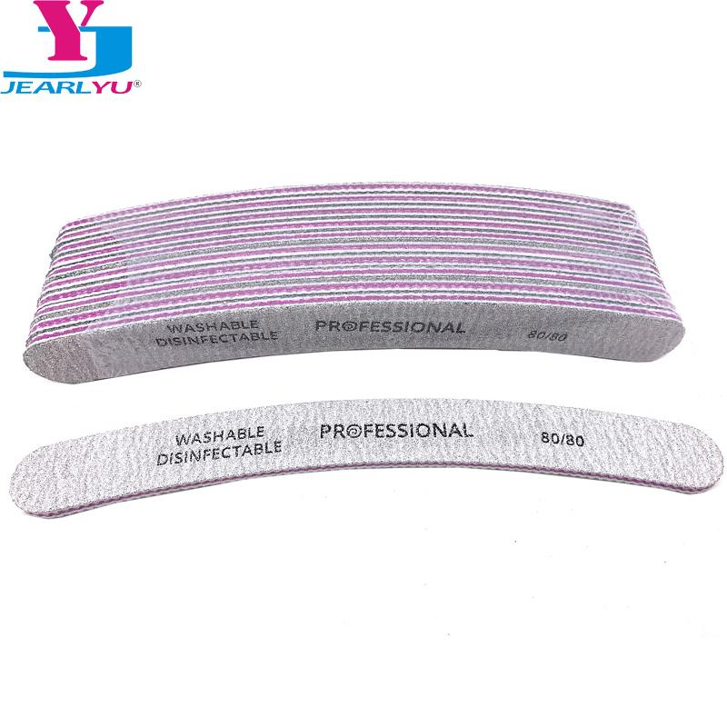 Zebra Nail Files 80/80 Grit Curved Nail Sanding File Acrylic File ...