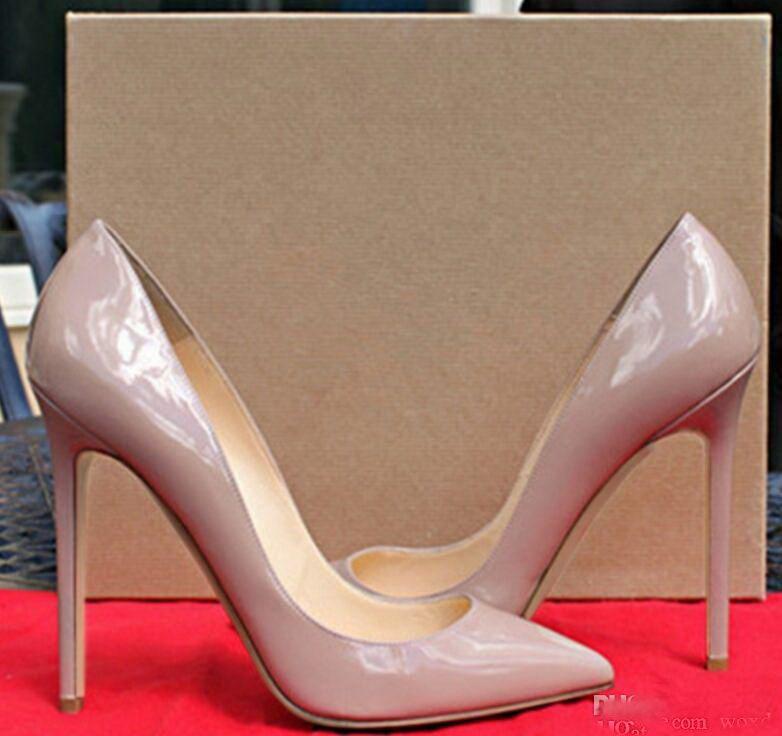 Pompa rugan Pigalle Topuklar KADIN düğün ayakkabı sivri burun ince topuklu seksi kadın kırmızı Siyah, yüksek topuklu Mor, koyun derisi 35-44