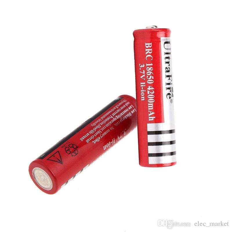 Ultrafire 18650 Batterie Lithium Rechargeable 3.7V 4200mAh Batterie pour LED Torche Lampe de poche Appareil Photo Numérique Bicyclette LED Phare