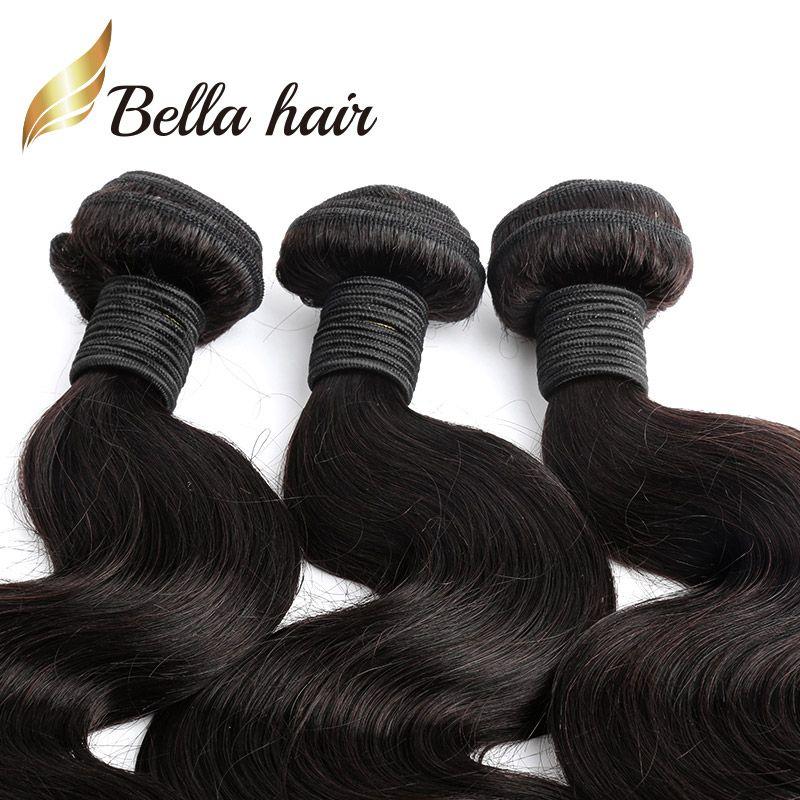 / cheveux brésiliens Bundles 100 Extensions de cheveux humains Vague de corps Ondulées Dyeable Blissables 7A Cheveux Donneur-Tresse Tisse Julienchina Bellahair