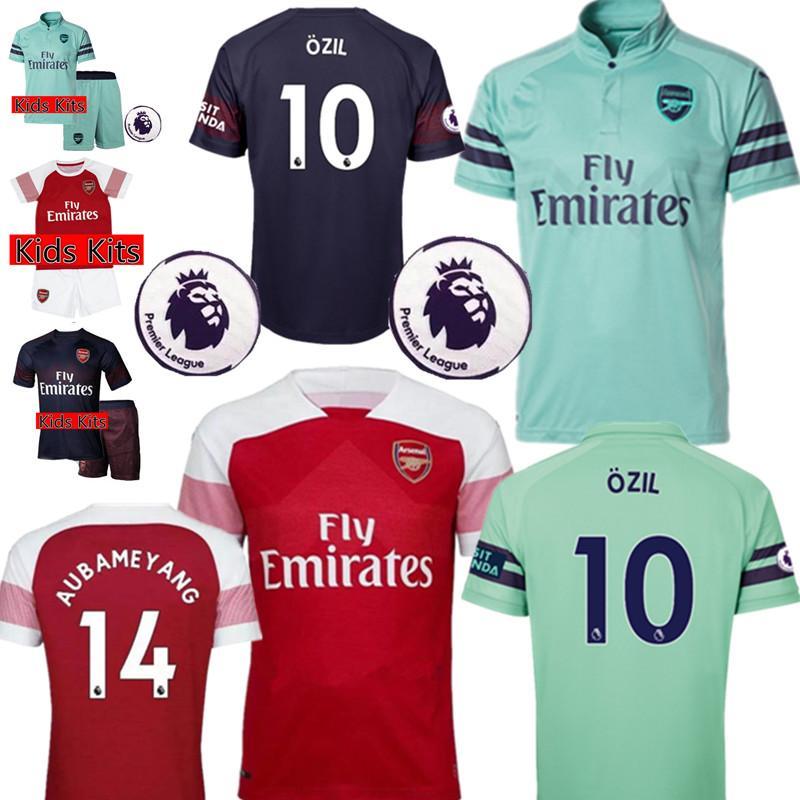 647542a82 Compre Arsenal OZIL   10 Camisa De Futebol 2018 2019 Arsenal AUBAMEYANG  Camisas De Futebol ALEXIS LACAZETTE GIROUD Uniformes De Futebol MULHERES  Homem ...