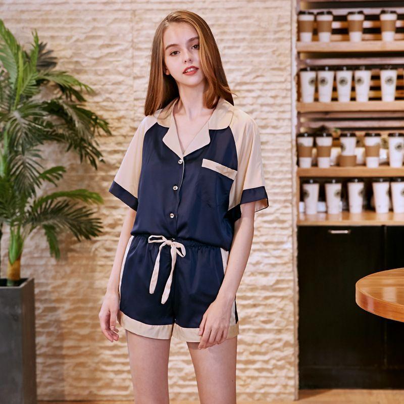 f5f7d5acb7 2019 Wholesale Hot Women Pajamas Pyjamas Pijamas Plus Size Nightgown Silk  Satin Night Gown Sexy Shorts Sleepwear Nightdress TZ833 From Clothesg009