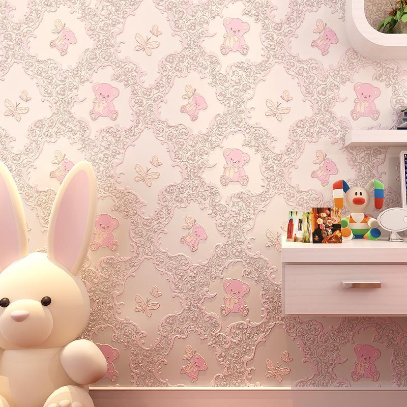 Papier peint chambre autocollante chambre fille chaude romantique rose  Collège Dortoir Décor Stickers muraux pour chambre d enfants papier peint