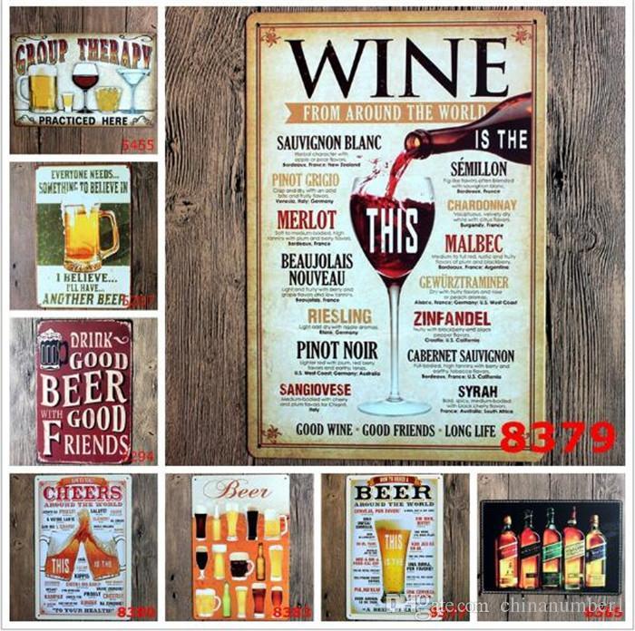 different themes beer garage warning Motor Vintage Craft Tin Sign Retro Metal Painting Poster Bar Pub Wall Art Sticker C014