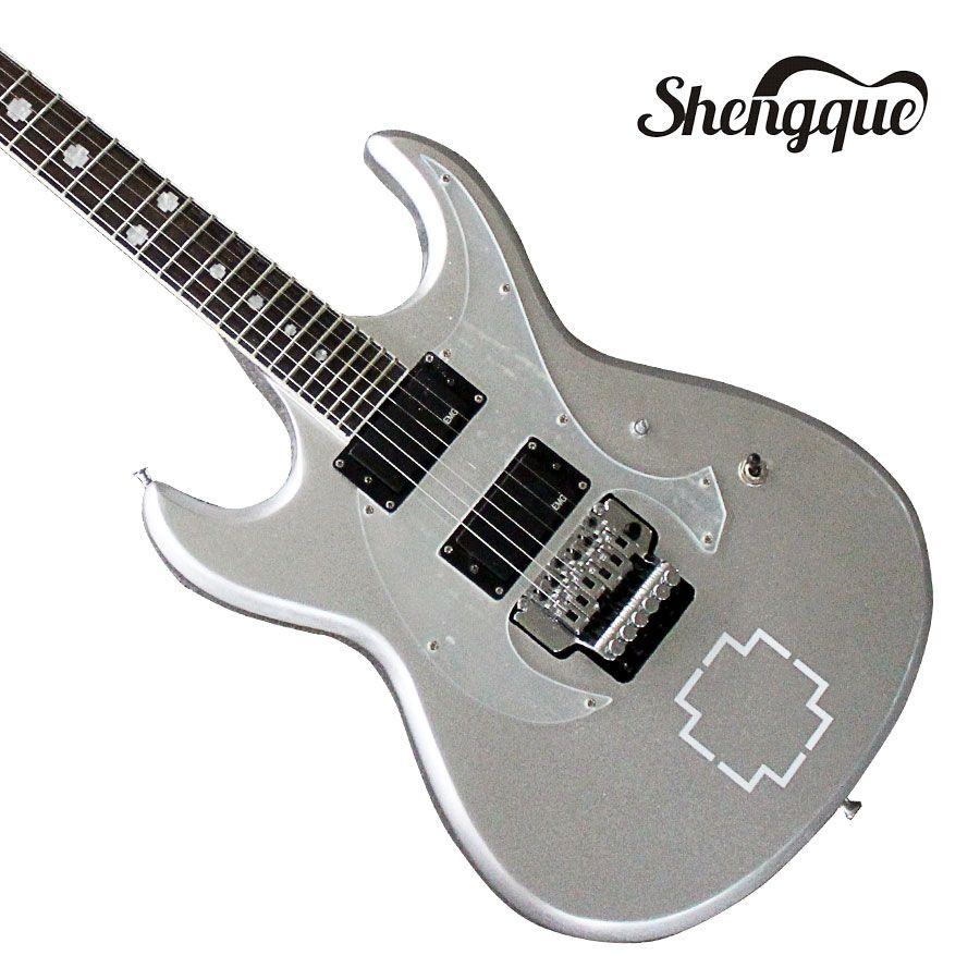 Factory Custom Floyd Rose Bridge Guitar Gray 6 Strings Electric