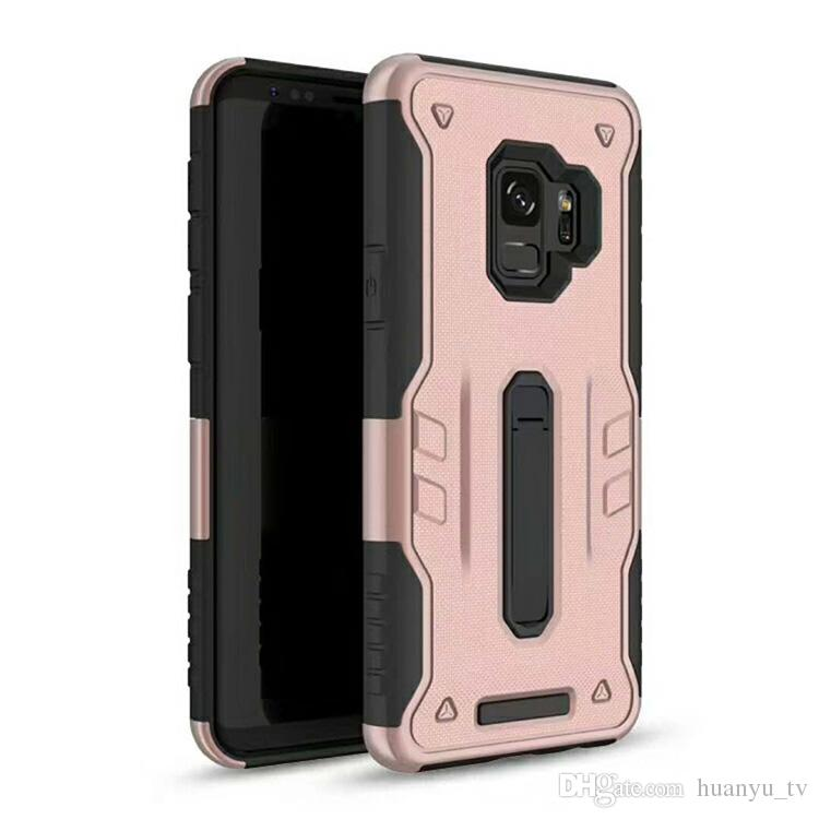 For LG stylo 4 K10 2018 K30 with metal kickstand TPU+PC 2 in 1 cell phone protector cases Oppbag
