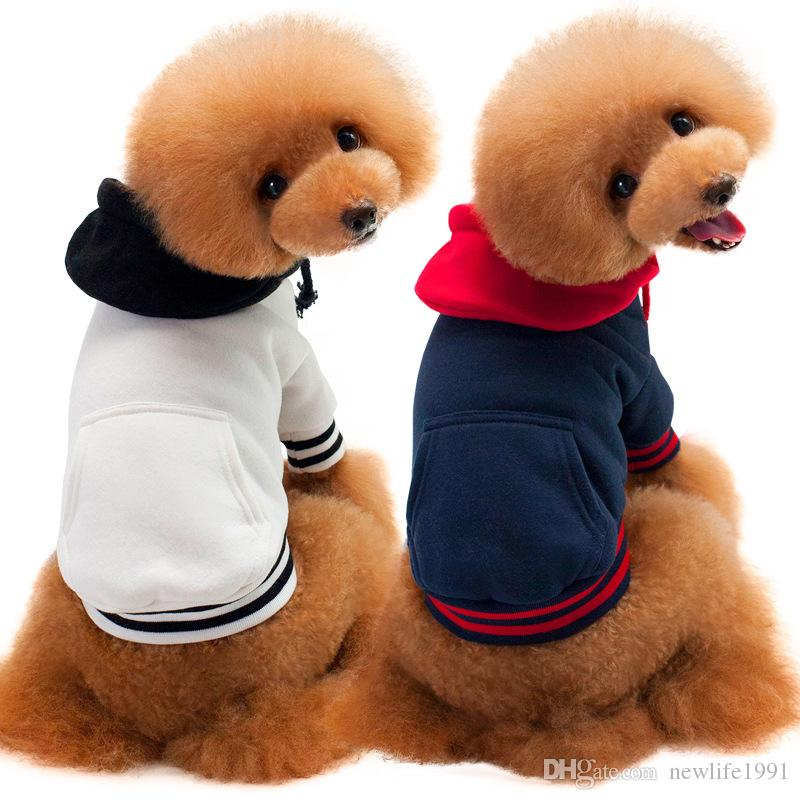 New Cotton Cute Hooded Pet For Dog Fashion Sweater Patchwork Dogs Puppy Hoodie Teddy Clothing Pets Clothes Free Ship